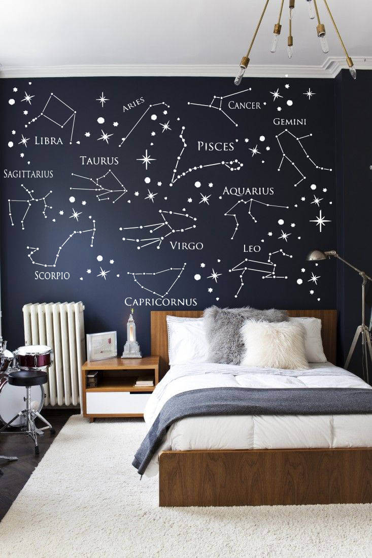 Zodiac Constellation Wall Decal Accent Wall Design