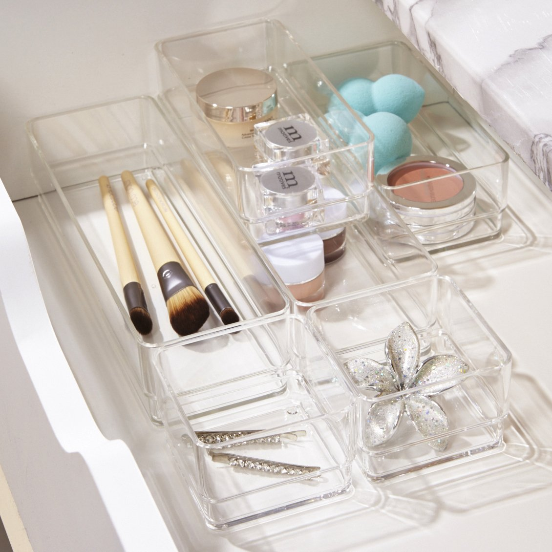 Multi-Sized Clear Containers for Easy Storage