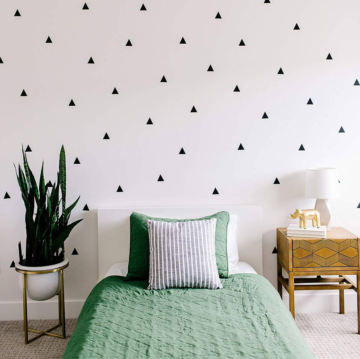 Modern Black Triangle Decals to Accent Your Wall