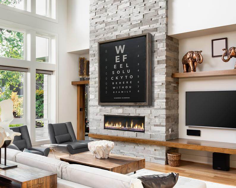 Clever Customizable Eye Chart Artwork for Your Mantel