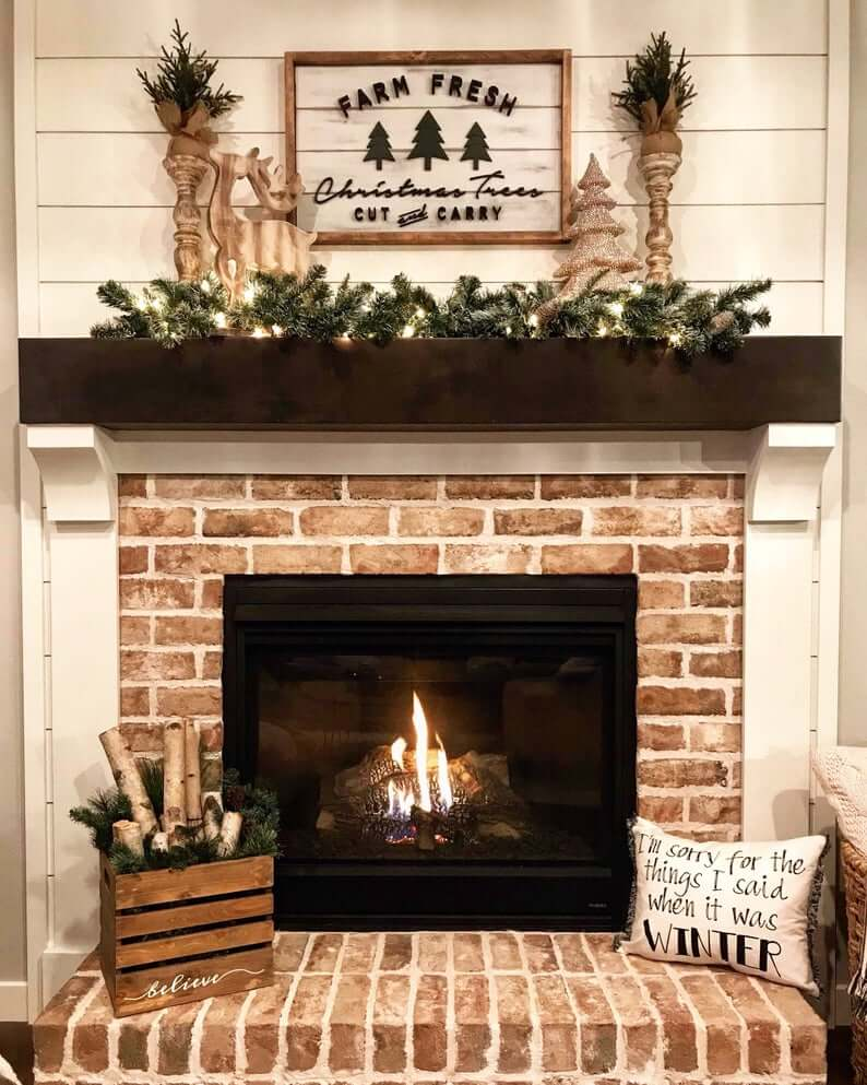 Adorable Farm-to-Fireplace Seasonal Wooden Mantel Sign