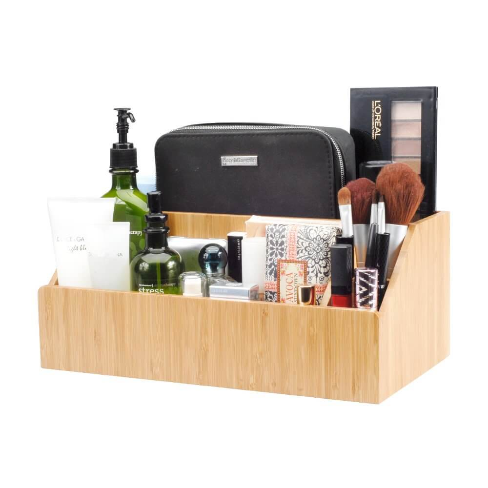 Two-tiered Bamboo Multi-functional Organizing Caddy