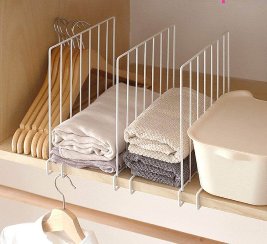 Tall White Wire Shelf Dividers