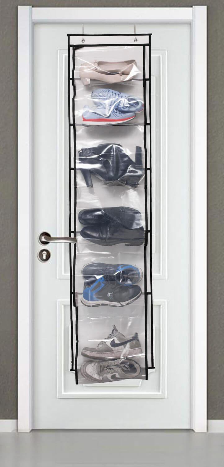 Clear Door Hanging Shoe Holder