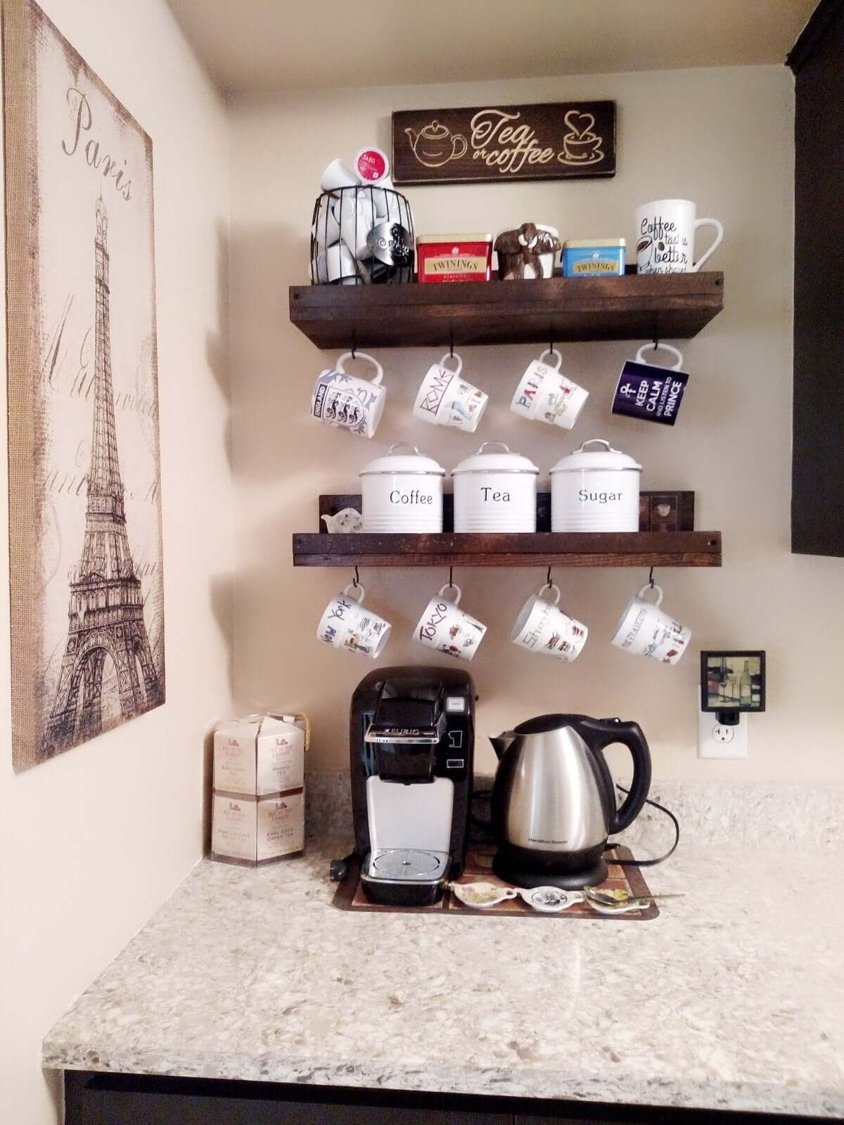 Coffee Trays on the Walls
