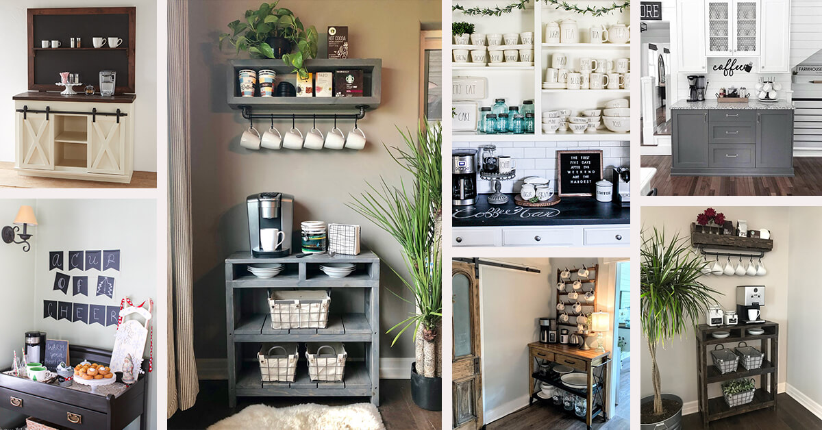 28 Best Coffee Bar Ideas To Kickstart Your Days In 2021