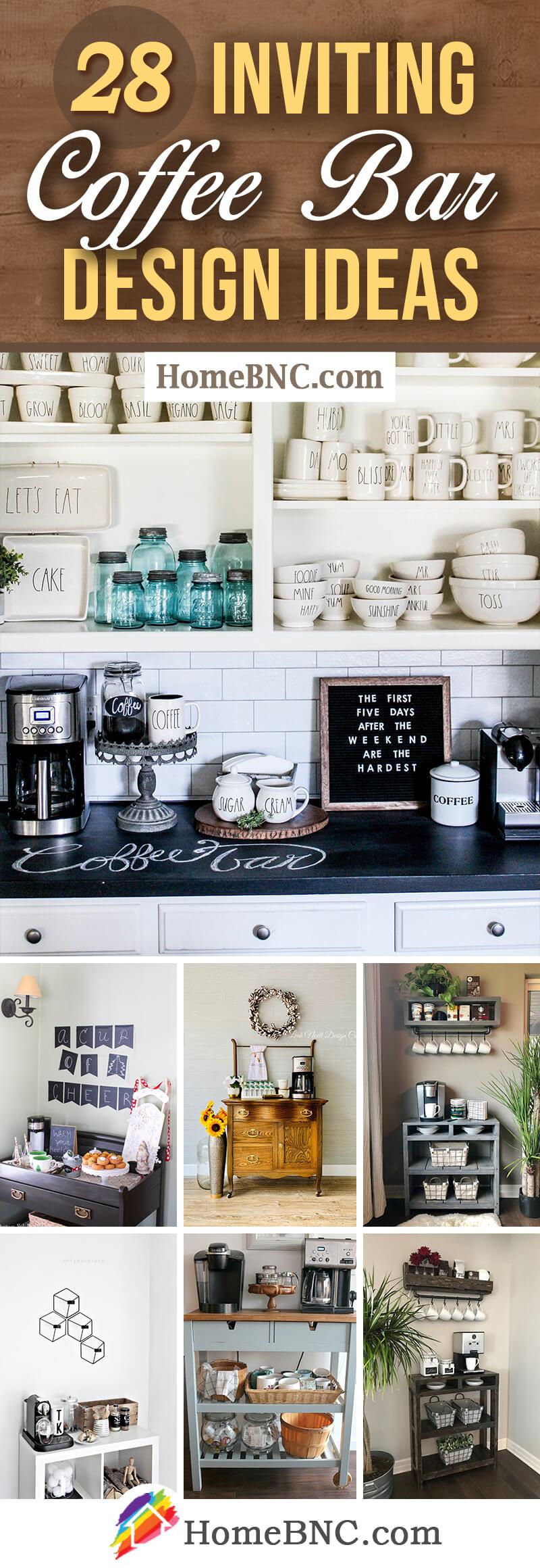 28 Best Coffee Bar Ideas To Kickstart Your Days In 2021