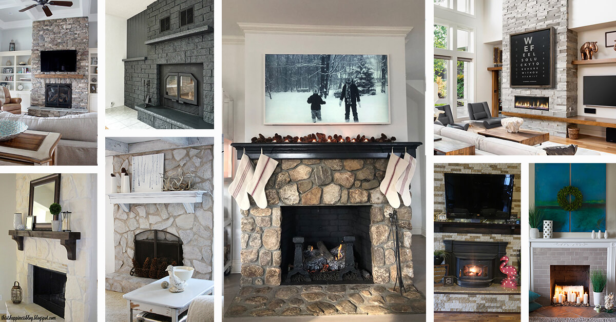 21 Best Stone Fireplace Ideas To Make, Awesome Stone Fireplaces