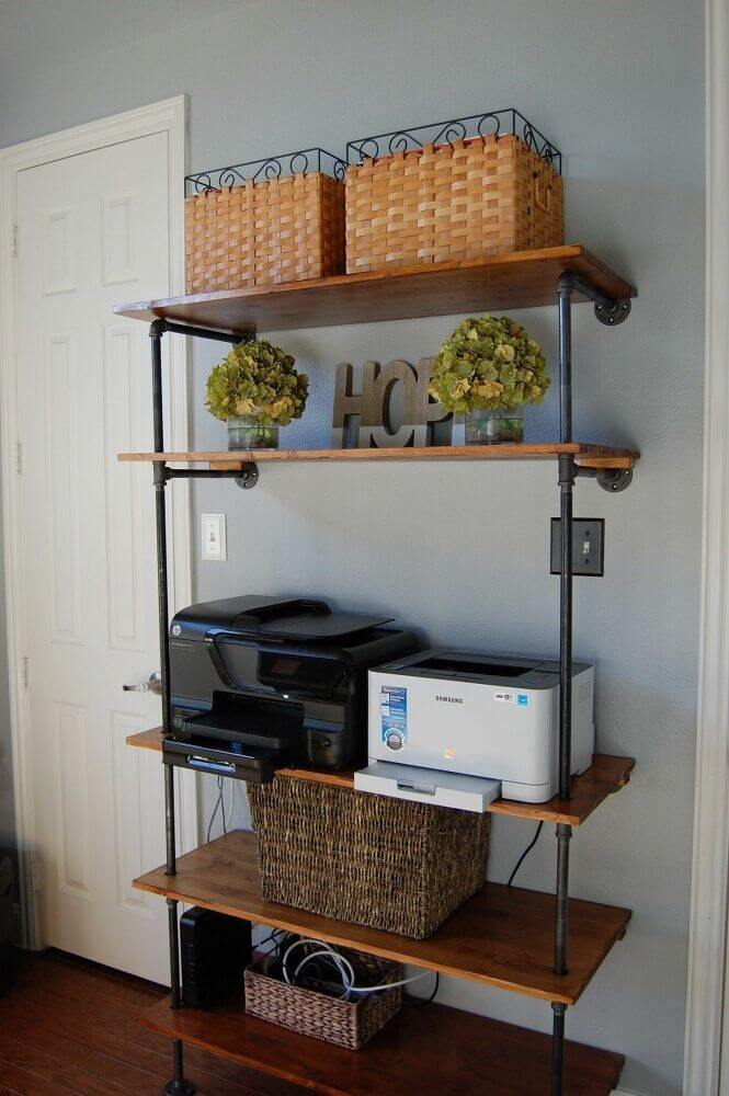Simple and Stylish Pipe Wall Shelf