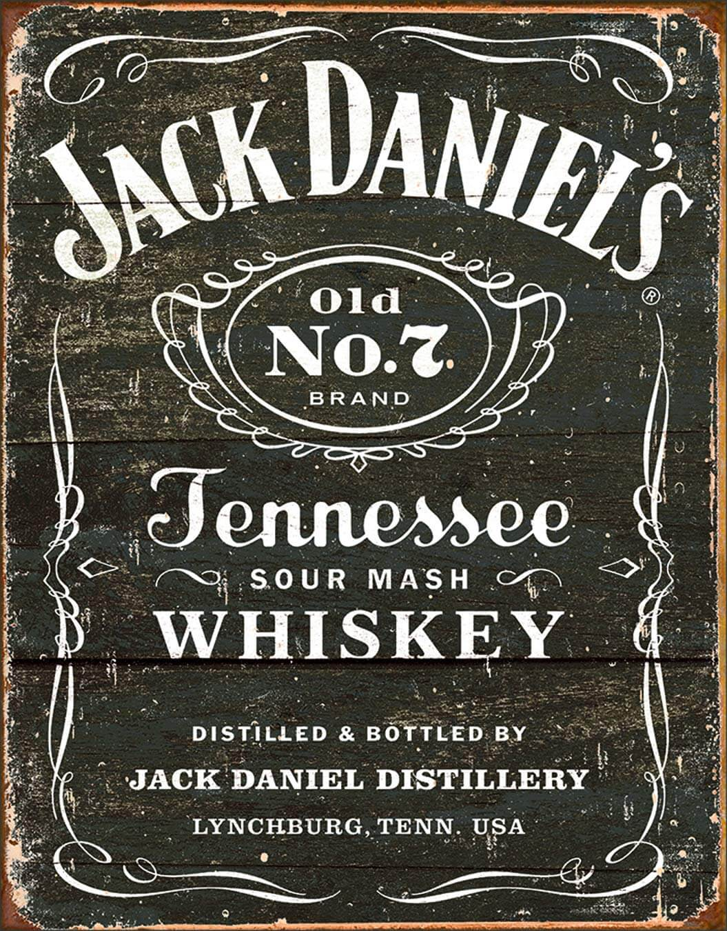 Old-School Jack Daniel's Tennessee Whiskey Sign