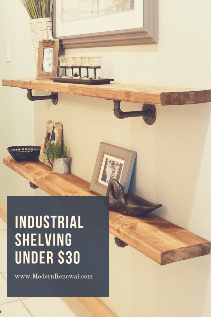 L-Bracket Pipe and Wood Wall Shelving
