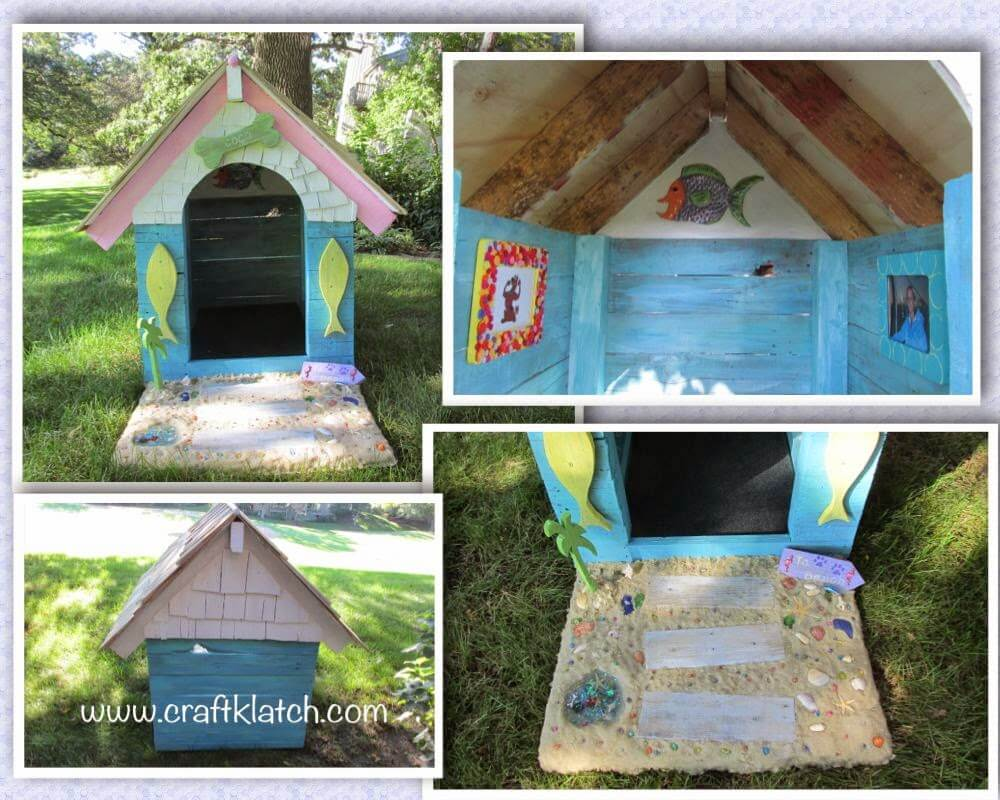 Beautifully Embellished and Whimsical Dog House