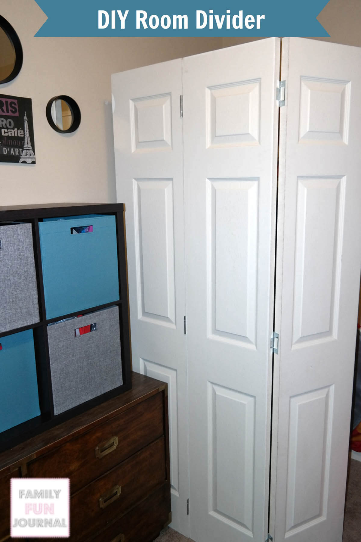 DIY Portable Room Divider Project