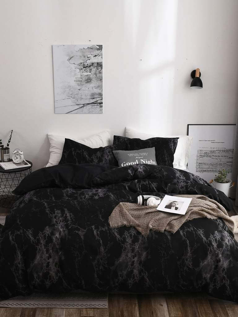 Marble Black Bedroom Decor Ideas