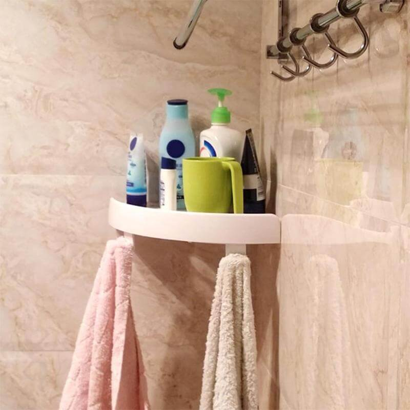 Space-Saving Shower Storage Idea