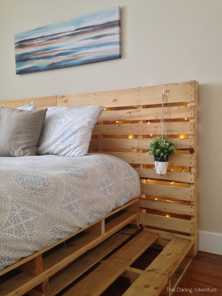 Twinkly Illuminated Palette Platform and Headboard