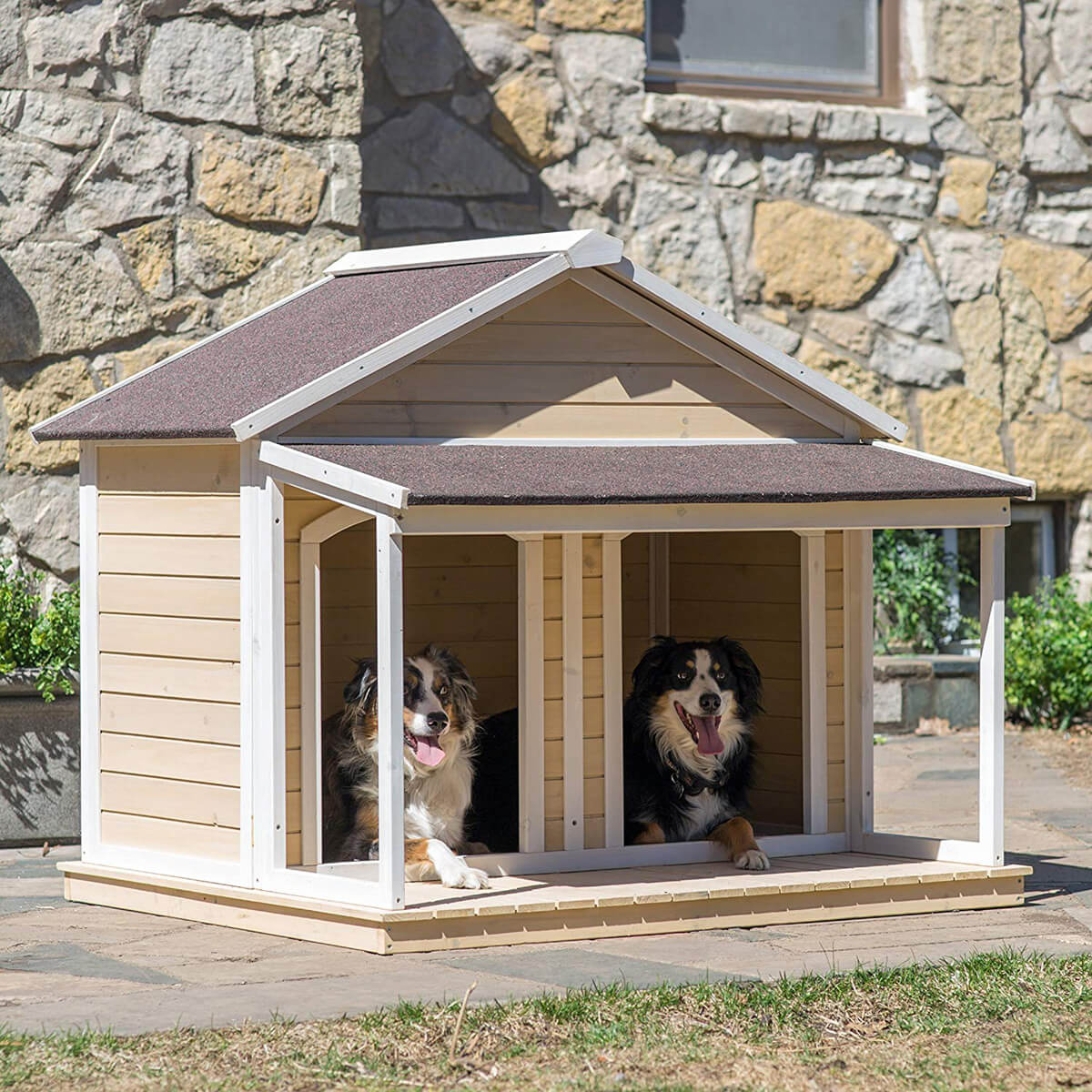 Deluxe Outdoor Double Dog House