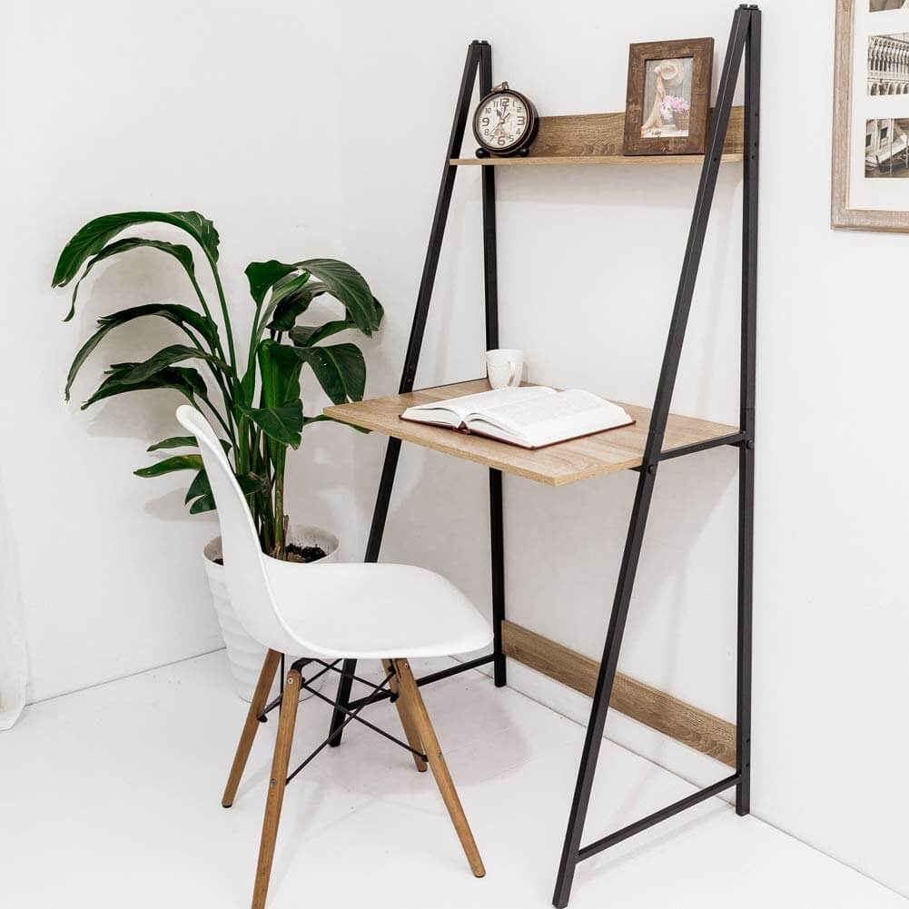 Standing Metal Frame Wall Desk Design