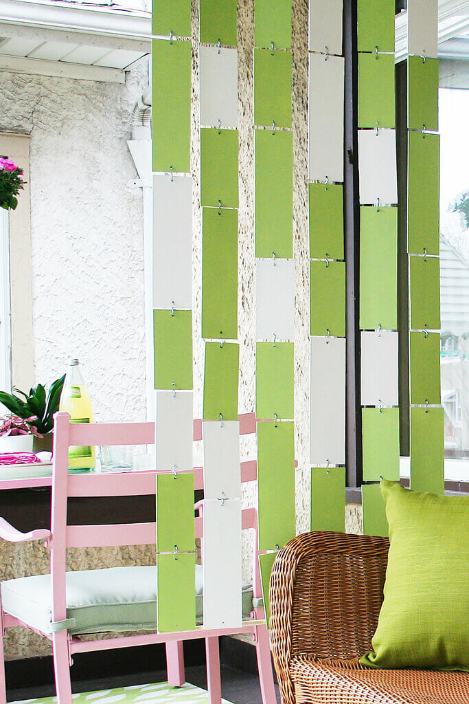 Colorful Hanging Room Divider Panels