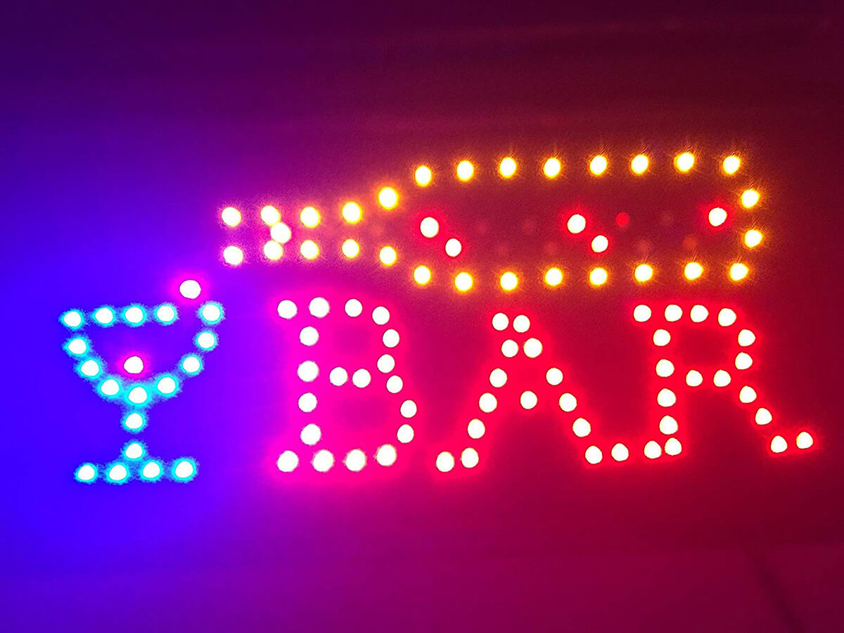 Colorful LED Decorative Bar Sign