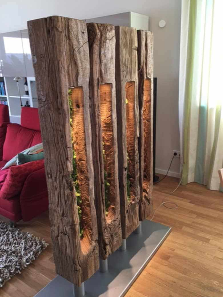 Hollow Barn Beam Statue Room Divider