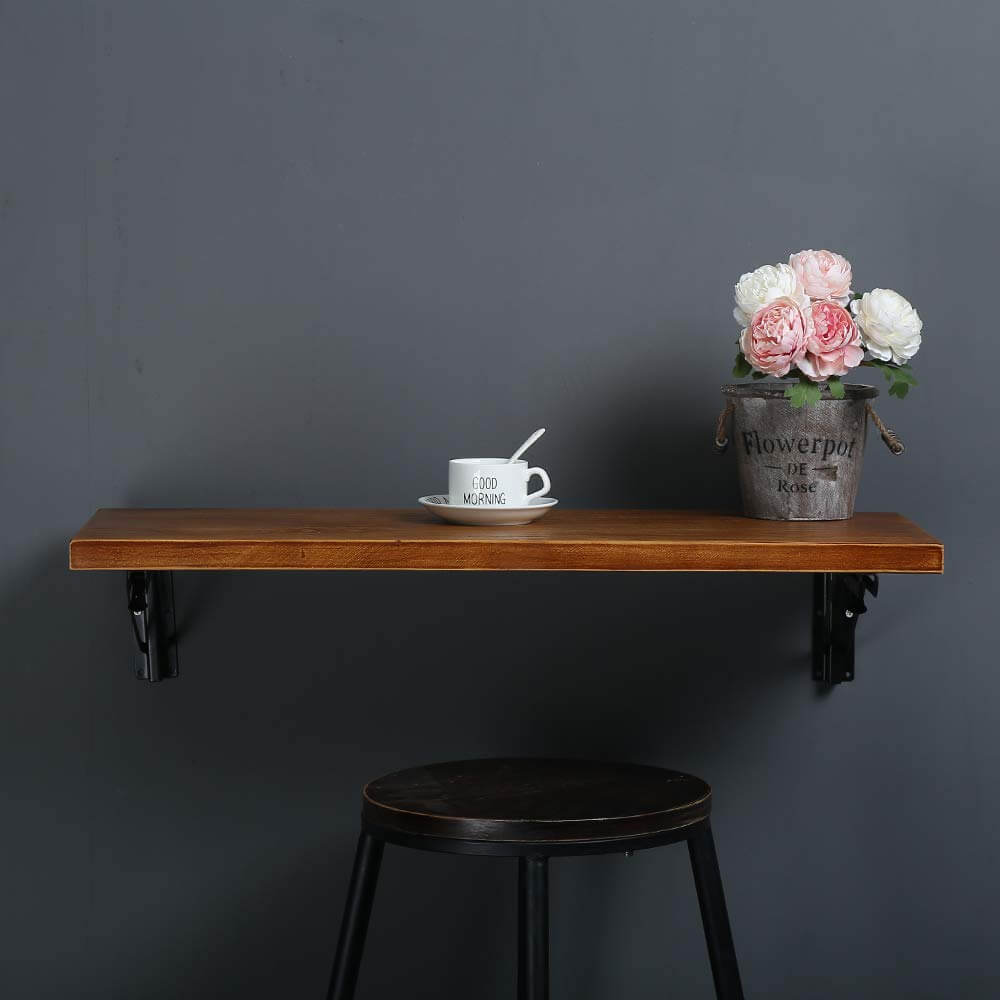 Single Piece Of Wood Wall Desk Ideas