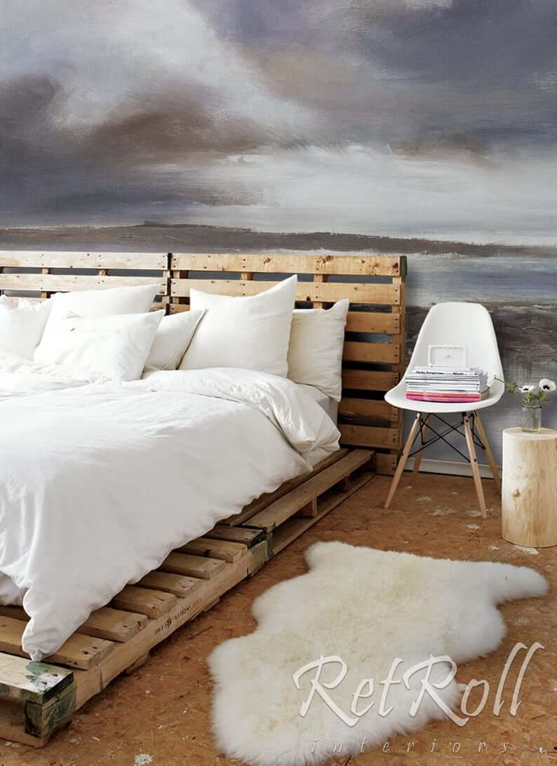 Amazing Naturalist Pallet Bed with Mural