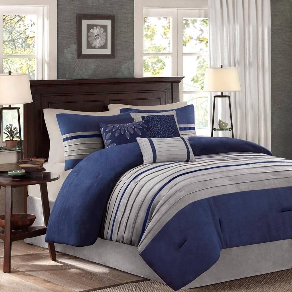 Simple, Easy Navy Blue Bedroom Set