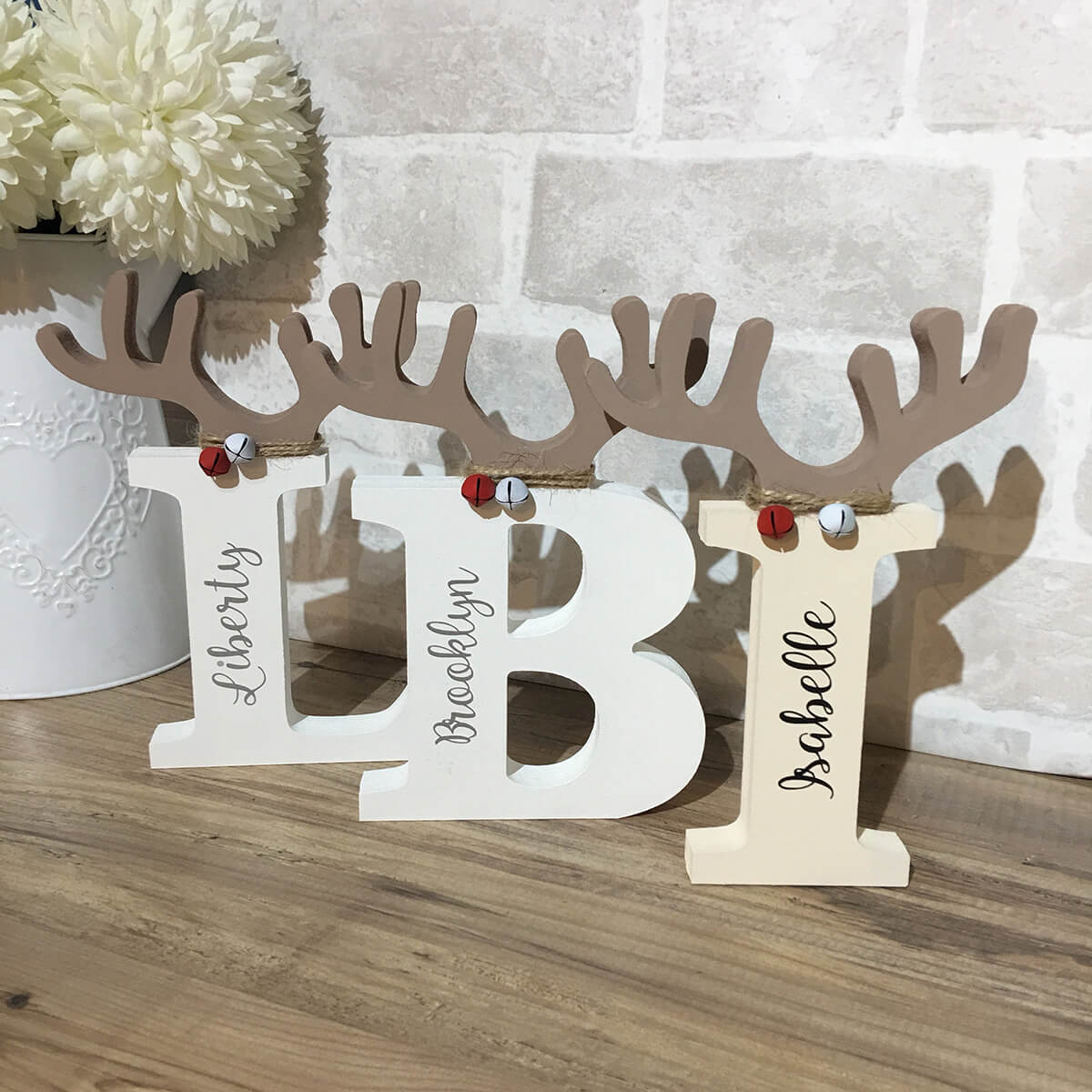Hand Painted Reindeer Letter Decorations