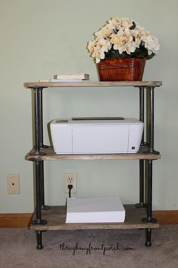 DIY Pipe Shelf Design Home Office Solution