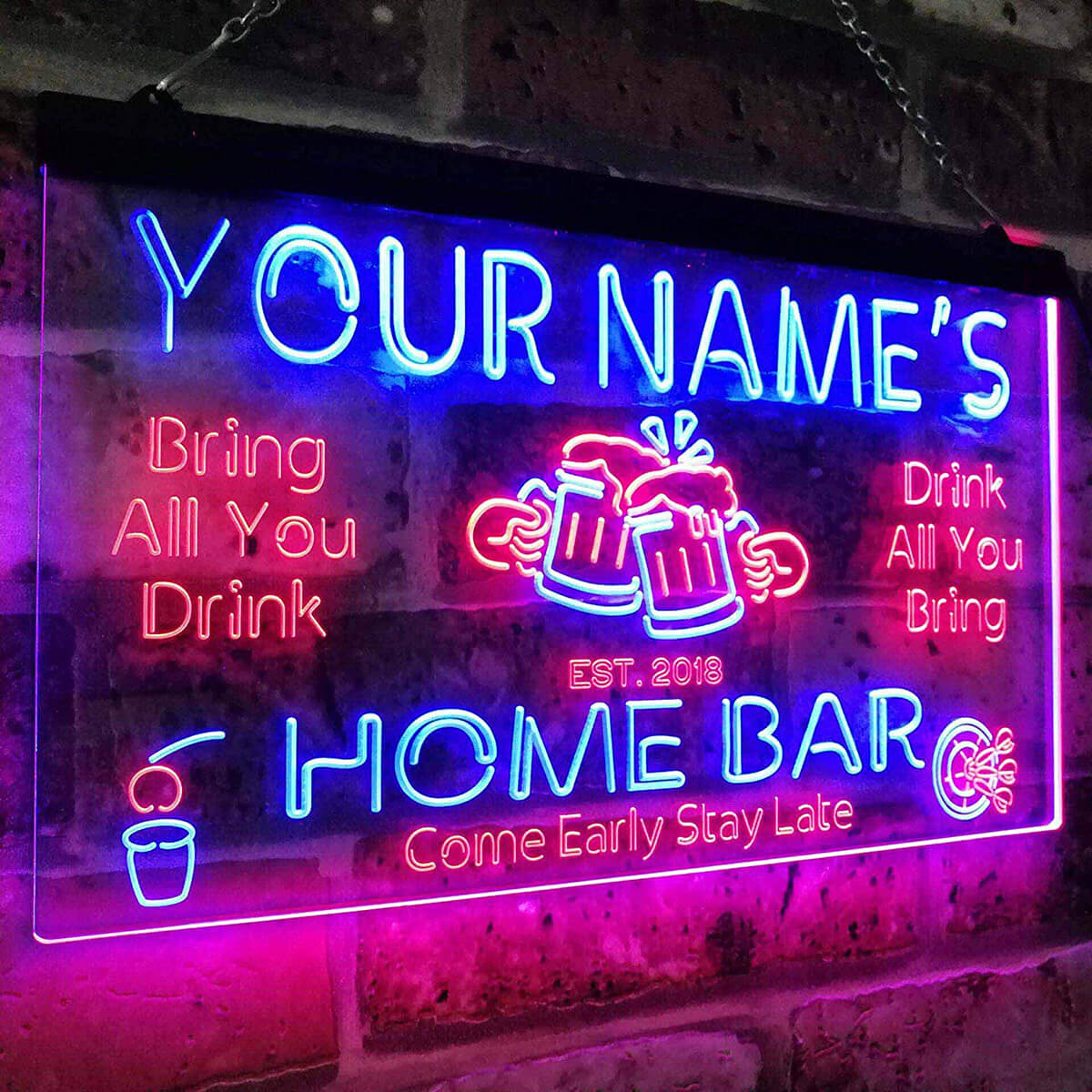 Custom Neon Bar Man Cave Sign