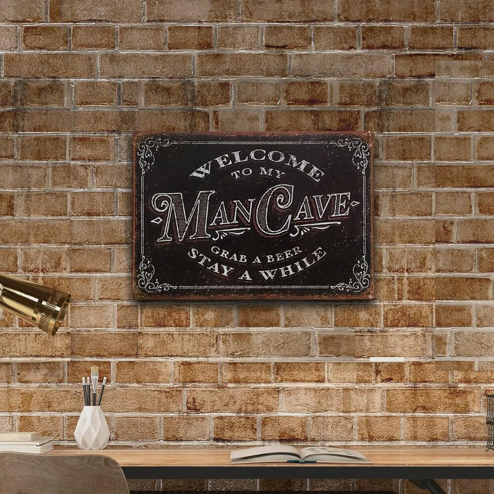 Old-Timey Bar Welcome Man Cave Sign