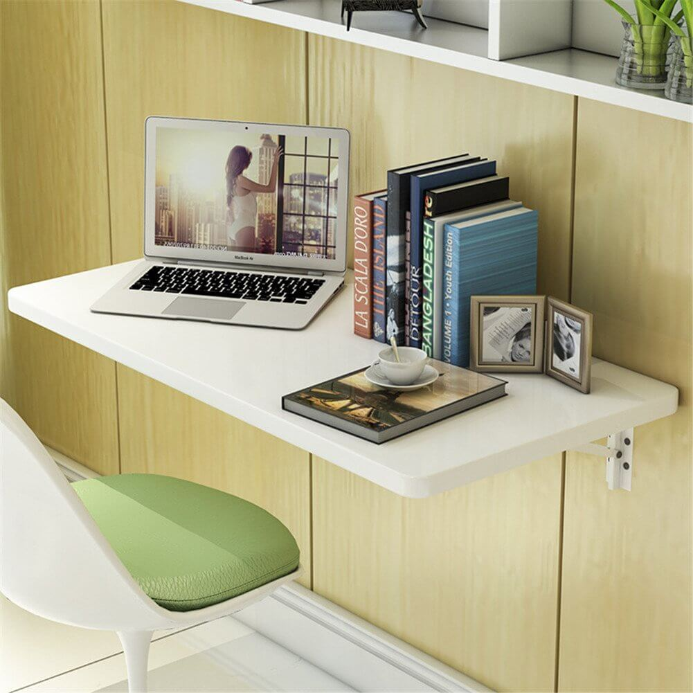 Small Solid White Wall Desk Ideas