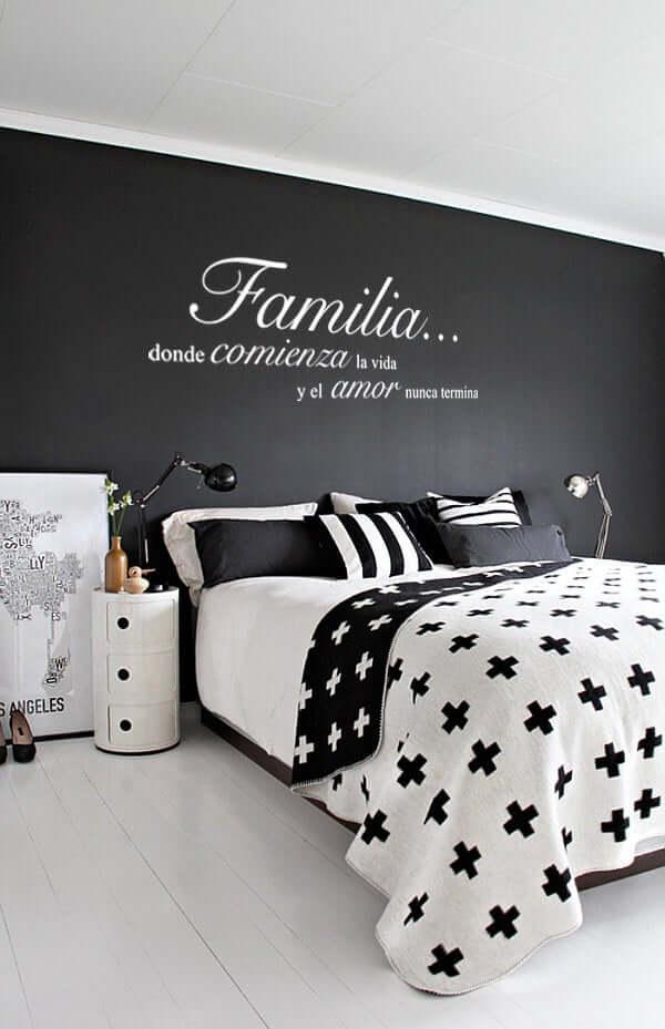 Familia Wall Art Black Bedroom Design Idea