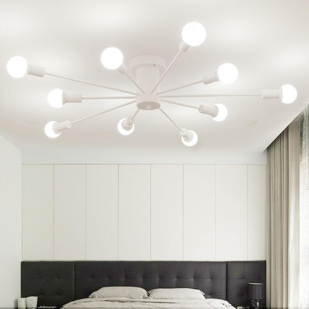 Awesome Retro Chic White Chandelier