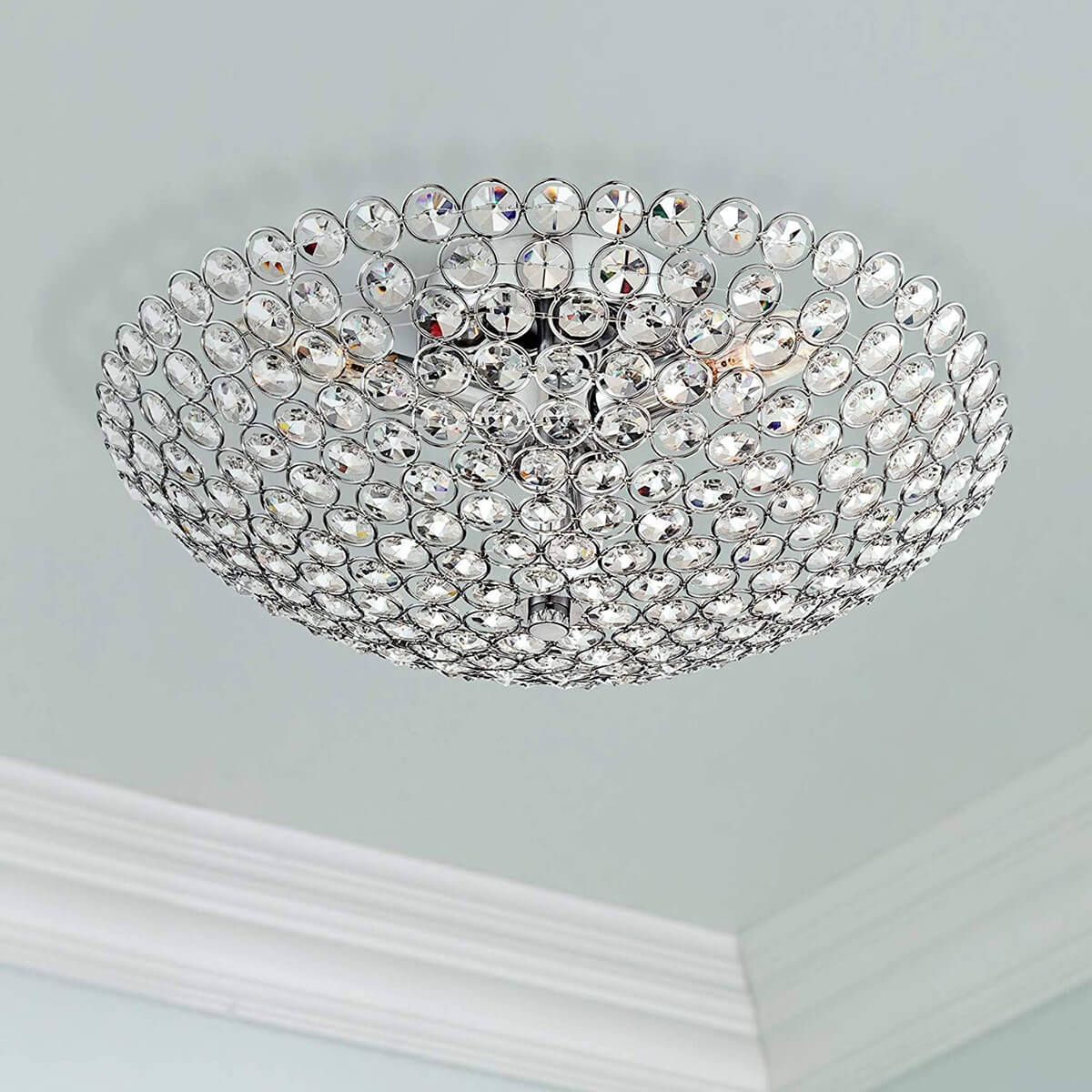 Pretty Covered Half-Circle Crystal Light