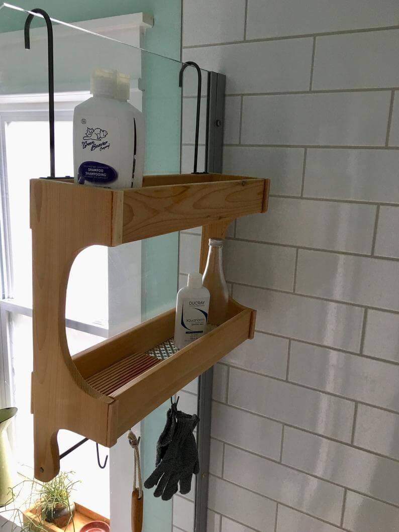 Beautiful Shower Storage Idea for Your Bathroom