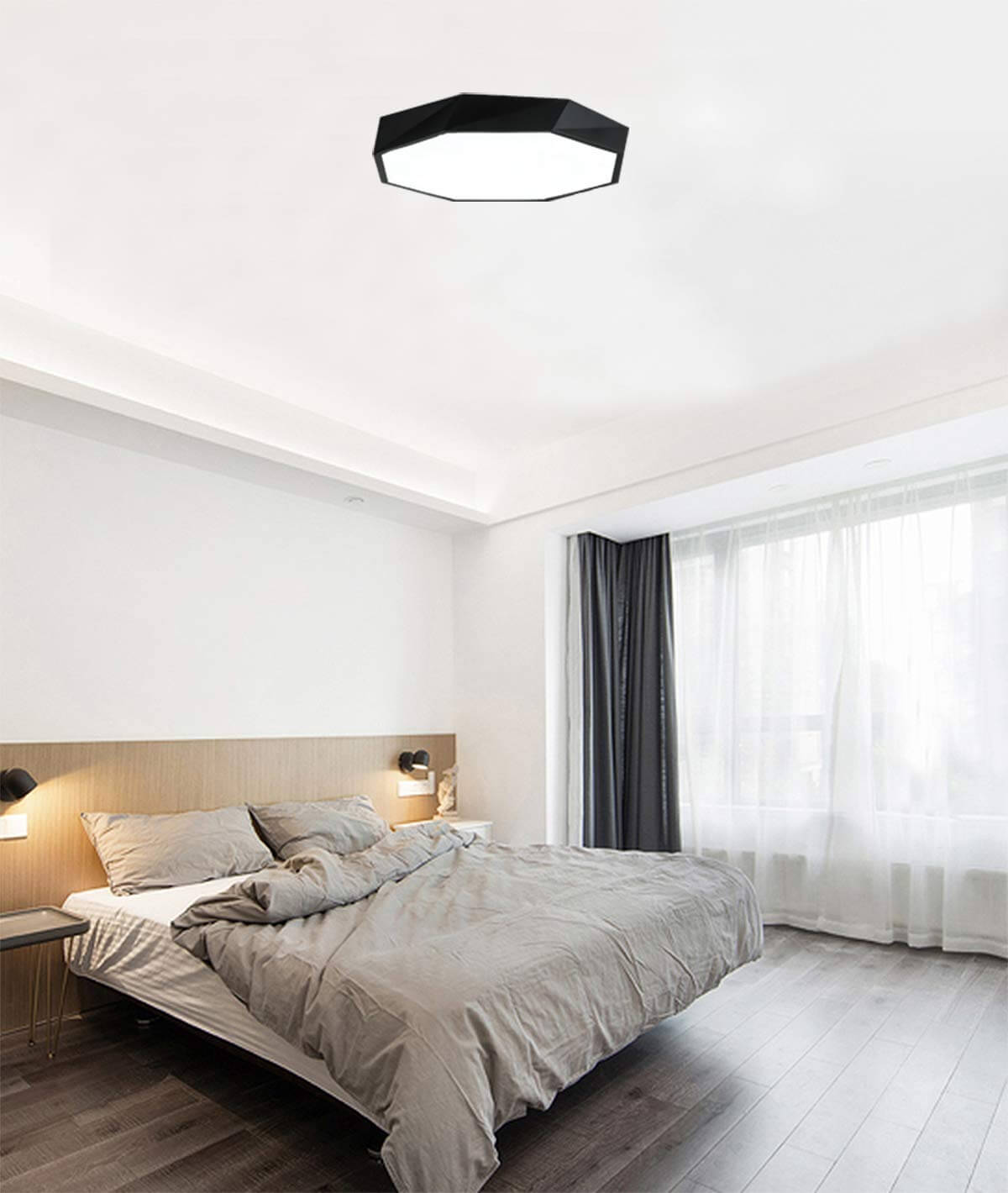 Modern Geometric Shallow Ceiling Light