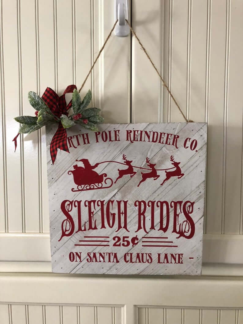 North Pole Reindeer Co. Vintage Sign for the Holidays