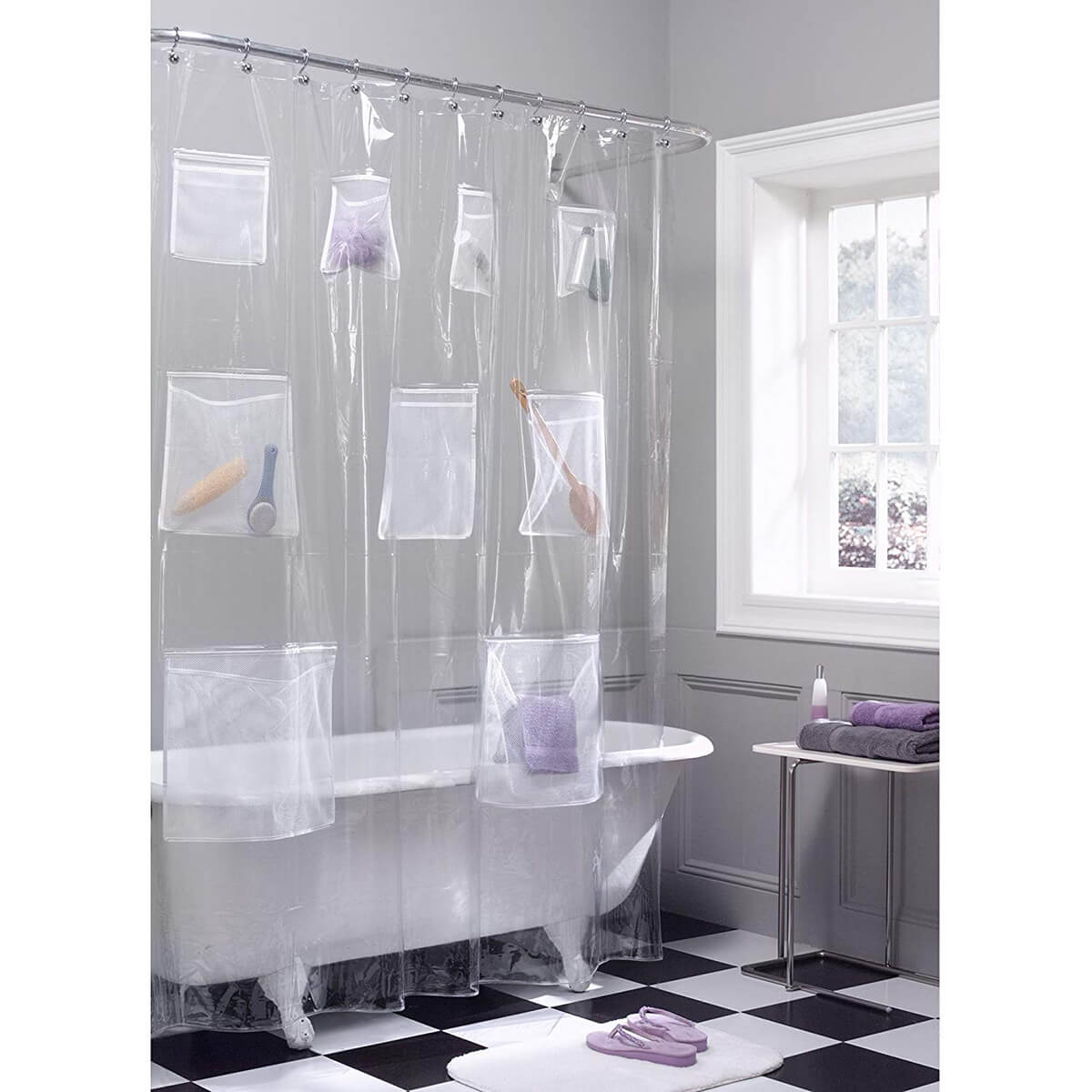 Quirky and Clever Shower Curtain Storage