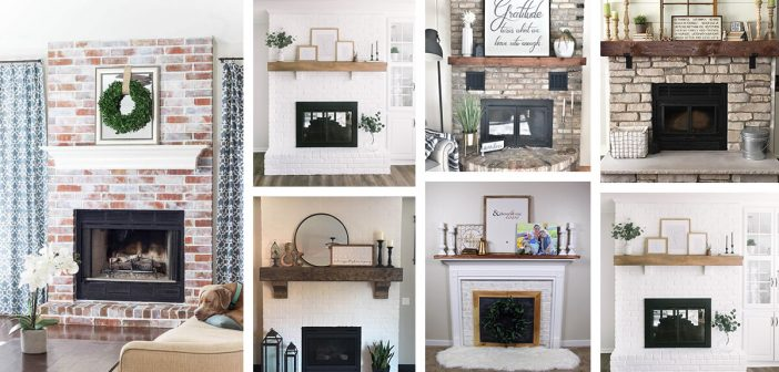 23 Best Brick Fireplace Ideas To Make, How To Decorate A Brick Fireplace Without Mantle