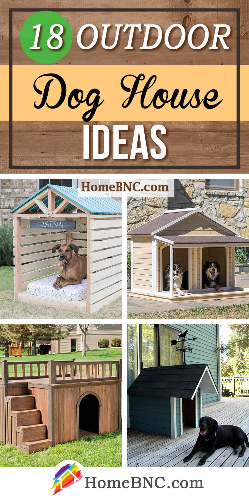 18 Cool Outdoor Dog House Design Ideas
