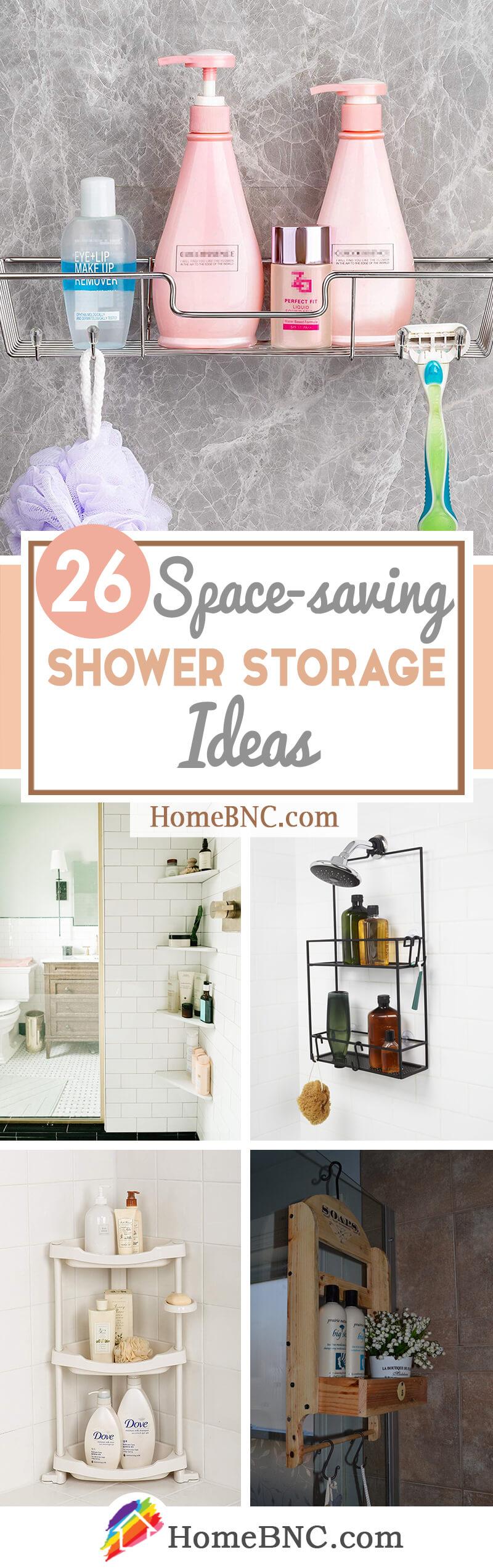 26 Best Shower Storage Ideas To Improve Your Bathroom In 2021