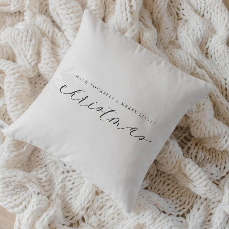 Have Yourself a Merry Little Christmas Accent Pillow