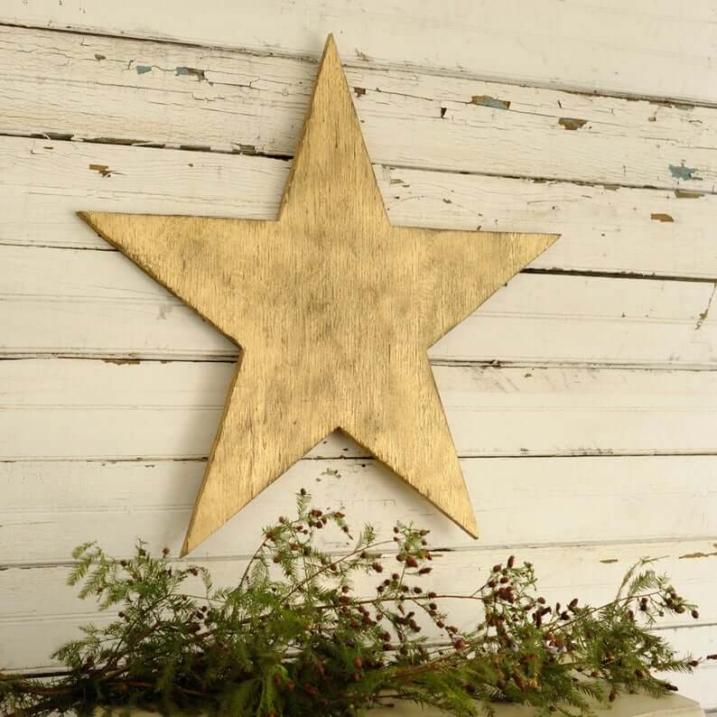 Oversized Wooden Holiday Star
