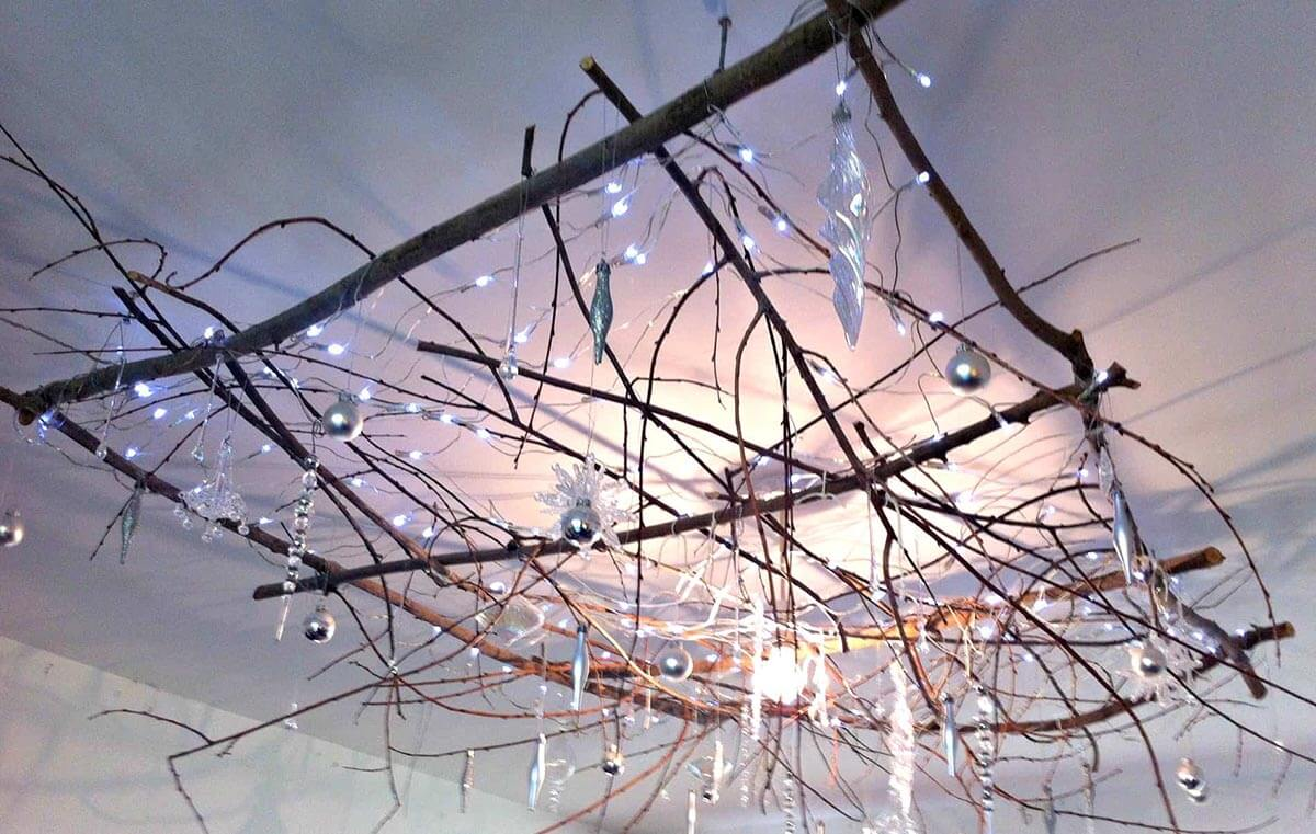 Rustic Icicle Forest Ceiling Hanging