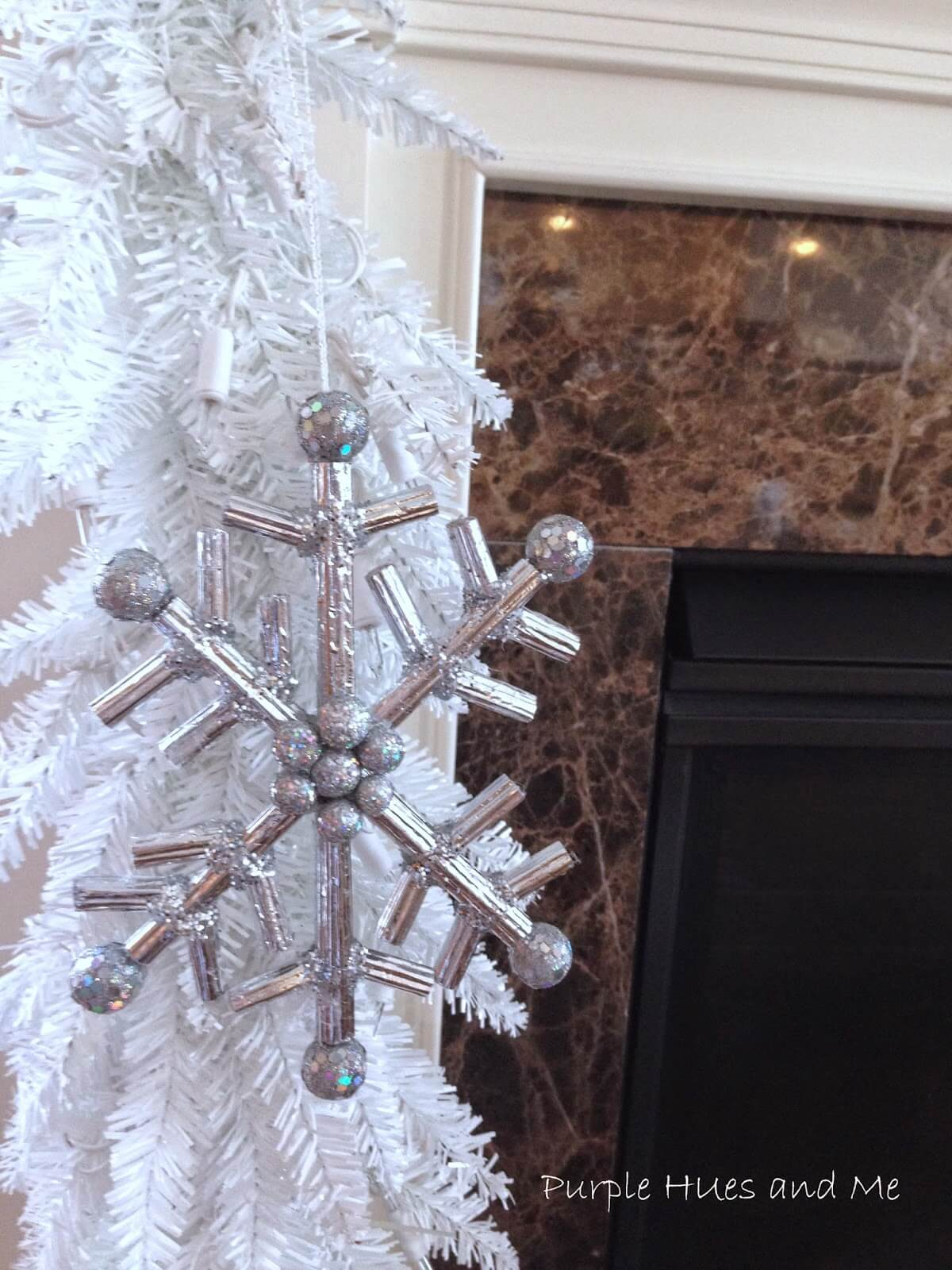Snowflake Ornament with Silver Balls