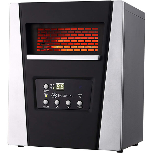 Homegear 1500W Infrared Electric Portable Space Heater