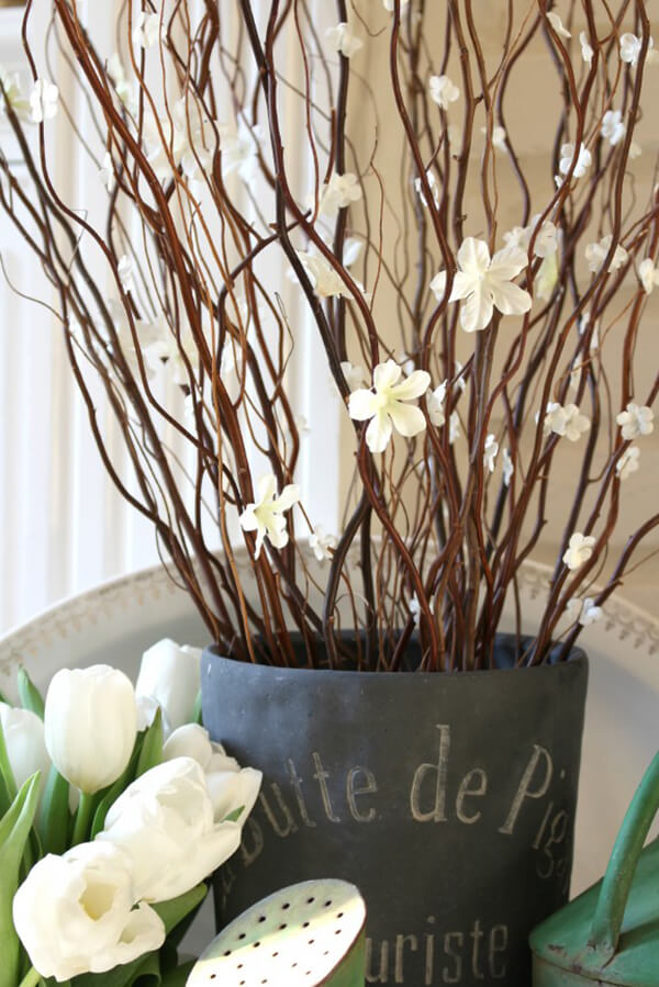 Sprucing Up Twigs with Flowering Branches