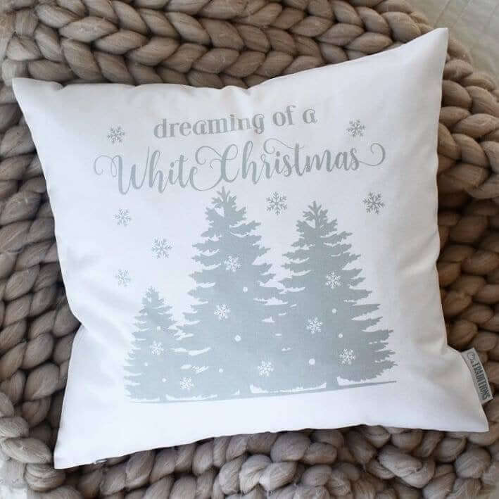 Dreaming of a White Christmas Magical Throw Pillow